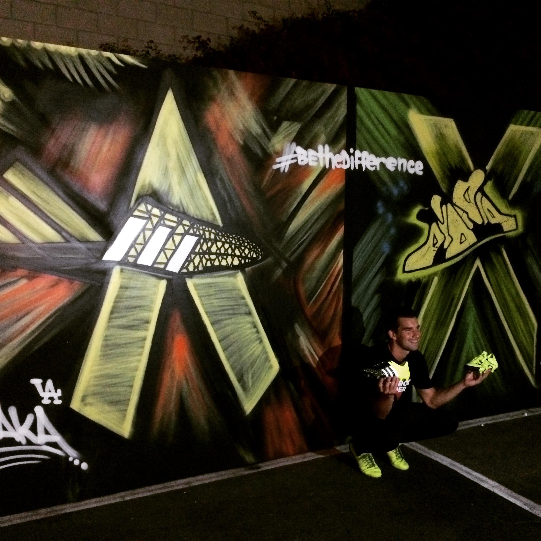 """Adidas wall by """"Chaka""""."""