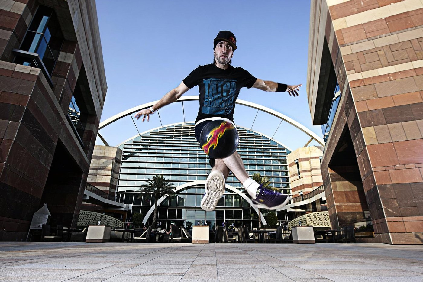 Sean Garnier performs during Red Bull Street Style in Dubai Festival City, Dubai, United Arab Emirates on June 29th, 2012 // Naim Chidiac/Red Bull Content Pool