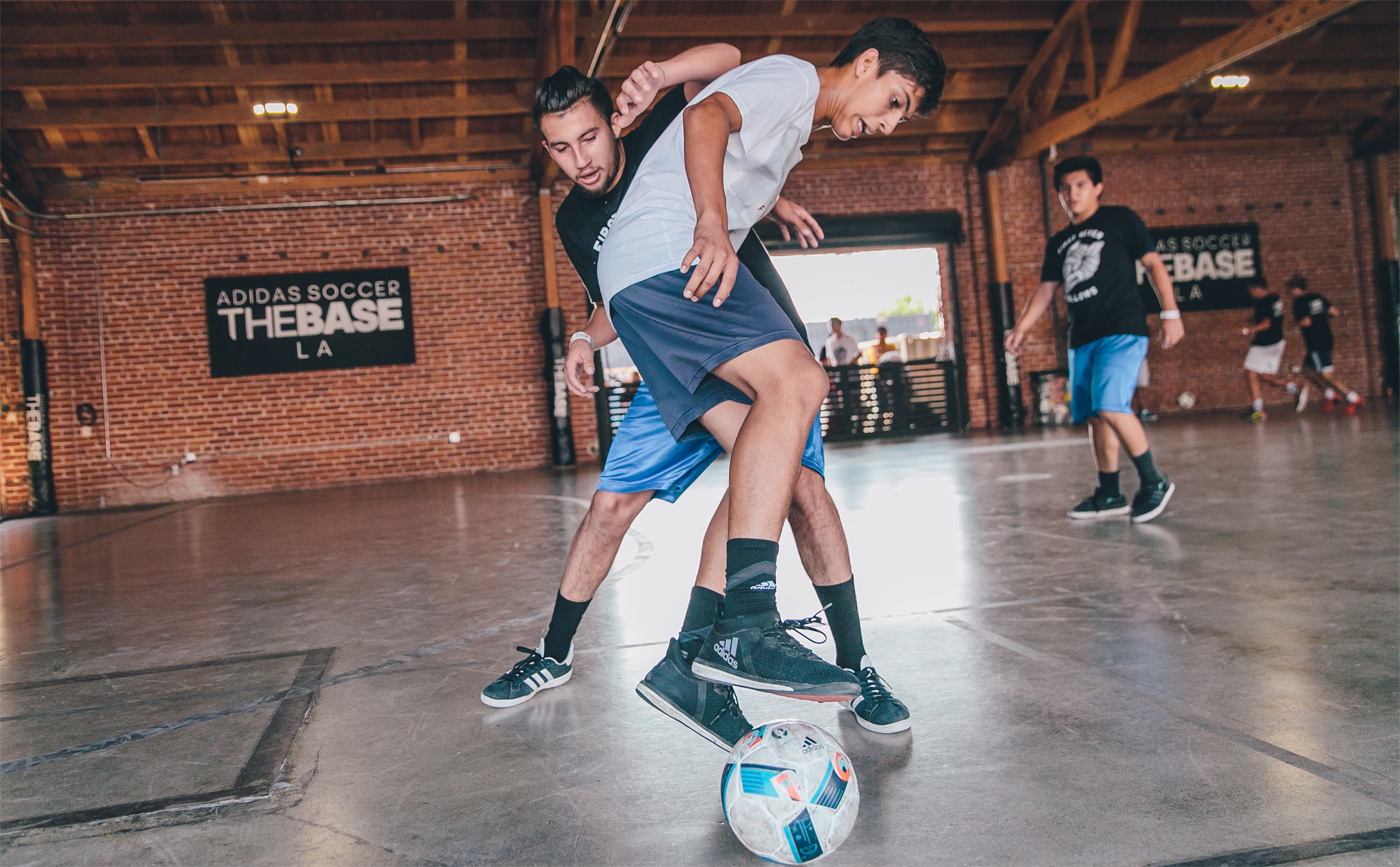 Adidas launches The Base LA featuring street football.